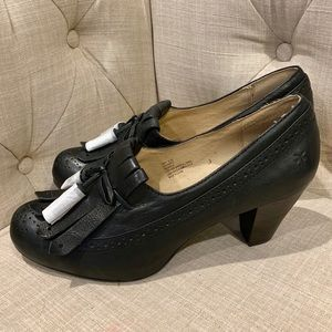 Frye Lois Kiltie Oxfords Leather Black 8.5 NWOB